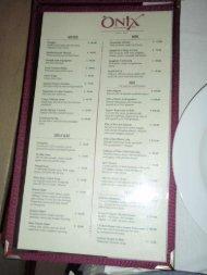 View Onix Restaurant menu (PDF file)