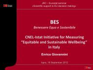 """CNEL-Istat Initiative for Measuring """"Equitable and ... - IPSC"""
