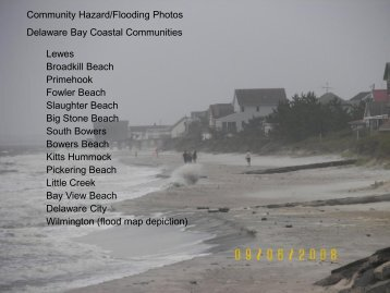 Community Hazard/Flooding Photos Delaware Bay Coastal ...