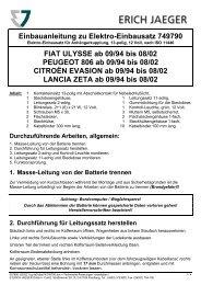Einbauanleitung zu Elektro-Einbausatz 749790 FIAT ULYSSE ab 09 ...