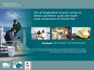 Use of longitudinal acoustic arrays to detect catchment-scale and ...