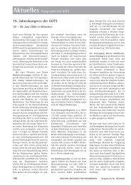 20. Juni 2004 in München - Deutsche Zeitschrift für Sportmedizin