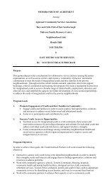 Memorandum of Agreement - Children's Mental Health Ontario