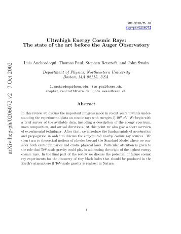 State of the Art.pdf - HENA High Energy Nuclear Astrophysics ...