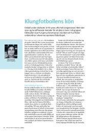 Klungfotbollens kön (2011) - GIH