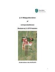 12 miljøgodkendelse af Baskærvej 5, 8370 Hadsten - Favrskov ...