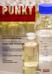 Keimfrei etikettieren Smart-Label-Technologie - Bluhm Systeme GmbH