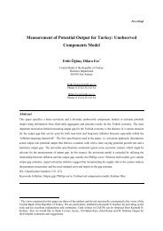 Measurement of Potential Output for Turkey: Unobserved ...