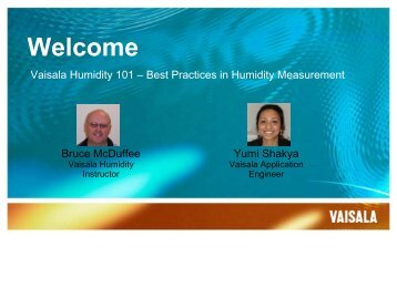 Best Practices in Humidity Measurement - Vaisala