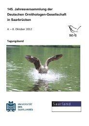 145. Jahresversammlung der Deutschen Ornithologen ... - DO-G