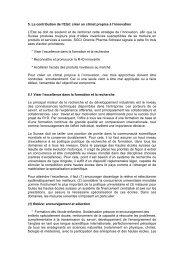 5. La contribution de l'Etat: créer un climat propice à l'innovation L ...