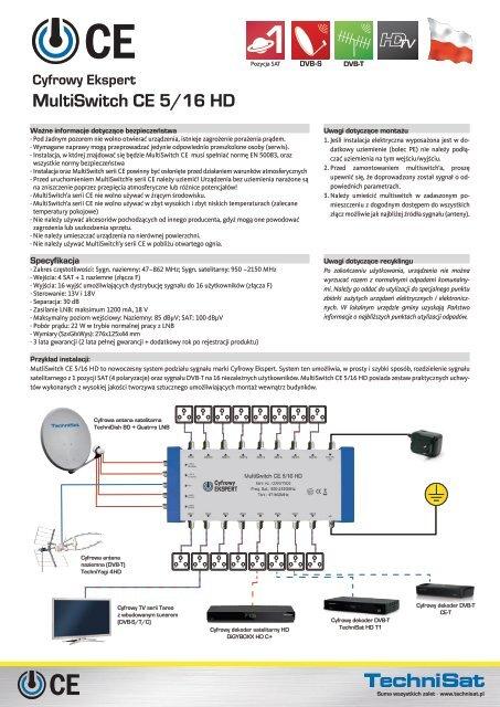 Cyfrowy Ekspert MultiSwitch CE 5/16 HD - SatTeam