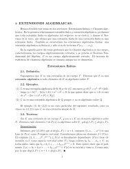 2. EXTENSIONES ALGEBRAICAS. Extensiones finitas.