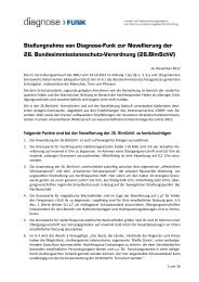 26.BImSchV - Diagnose Funk