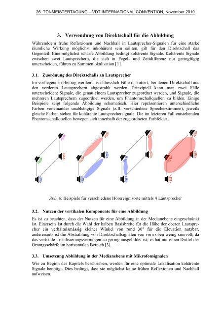 Angewandte Psychoakustik bei 3D Surround Sound Aufnahmen ...