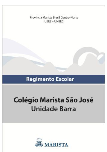 Regimento Escolar – Marista São José Barra