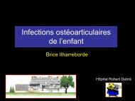 Prise en charge chirurgicale des Infections ostéo-articulaires - SOFOP