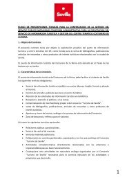 PLIEGO DE PRESCRIPCIONES TECNICAS - Visita Sevilla