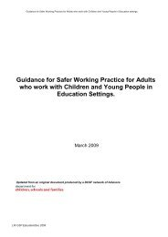 Guidance for Safer Working Practice for Adults ... - Children England