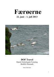Færø13 rapport.pdf - DOF Travel