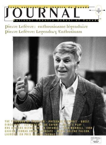 Fichier PDF (580Ko) - École nationale de théâtre