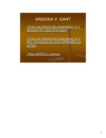 ARIZONA V. GANT - Martin County, Florida