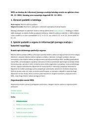 Katalog informacij javnega značaja MOL - Ljubljana