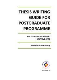 Thesis Writing Guide - Faculty of Applied & Creative Arts - Universiti ...