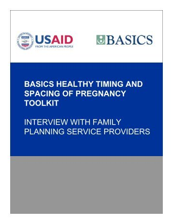 Interview with Family Planning Service Providers for Healthy ... - basics
