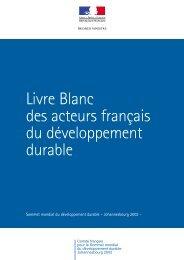 Livre blanc des acteurs français du développement - ADEME Guyane