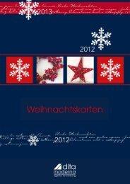 Weihnachtskarten - dita moderna - Agentur für Werbung