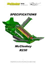 SPECIFICATIONS McCloskey R230 - Best Machinery Kft.