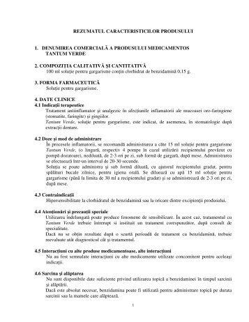rezumatul caracteristicilor produsului 1. denumirea ... - CSC Pharma