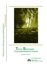 RHO Tornio raportti 2001 - Museovirasto