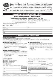 bulletin de réservation hôtel - Alpha Visa Congrès