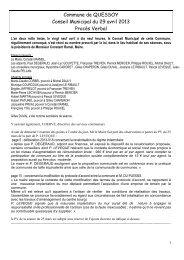 Conseil Municipal du 6 octobre 2003 - Mairie de Quessoy