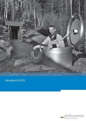 Jahresbericht 2012 Dorfkorporation Wattwil - Thurwerke AG