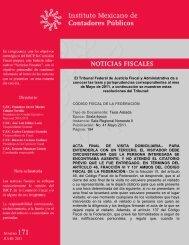 Noticias Fiscales 171 - Instituto Mexicano de Contadores Públicos