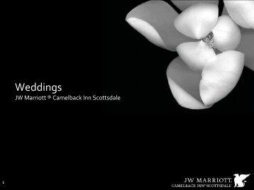 Camelback Inn Wedding Menu - Marriott