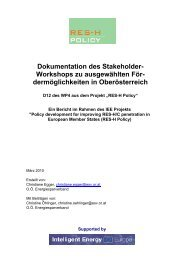Dokumentation des Stakeholder- Workshops zu ... - RES-H Policy