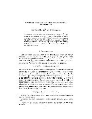 SPECIAL VALUES OF THE POLYGAMMA FUNCTIONS M. RAm ...