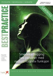 Smertekartlegging hos personer med nedsatt kognitiv ... - Lundbeck
