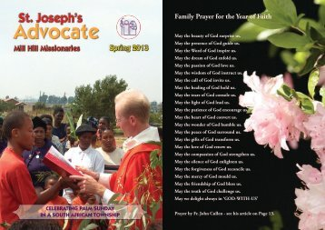 advocate-spring-2013.. - The Mill Hill Missionaries