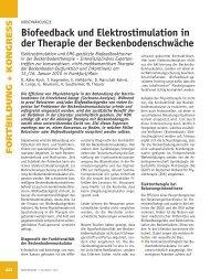 Biofeedback und Elektrostimulation in der Therapie der ...