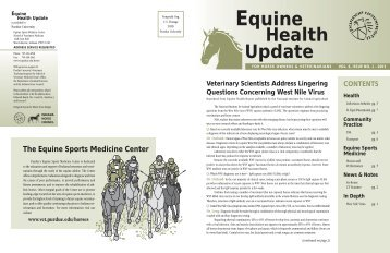 Equine Health Update Vol 6, Issue No. 1 - Purdue University School ...