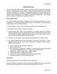 Staff Dress Code - Monte Vista School District