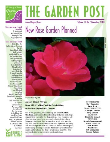 New Rose Garden Planned - UT Gardens - The University of ...