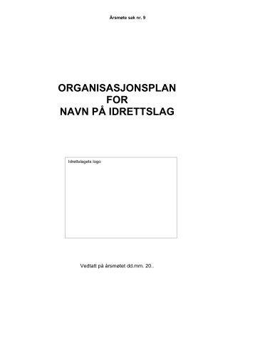 Organisasjonsplan mal - Norges idrettsforbund