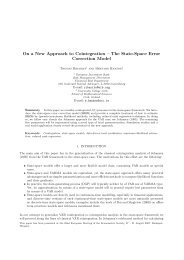 On a New Approach to Cointegration - Mathematical Sciences ...