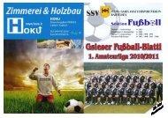 Herzlich willkommen zum Heimspiel gegen Stegen - SSV Pichl/Gsies